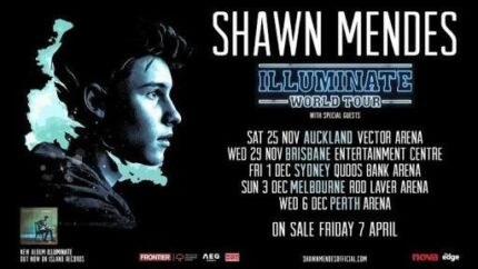 Shawn Mendes Dec 6 (2 Tiered seating Tickets) Perth Arena