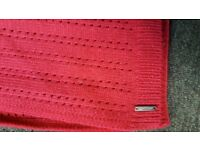 Calvin Clein Red Scarf Worn Once