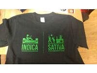 Weed, indica, sativa, fun gift clothing idea.
