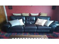 Leather 2 Piece Sofa For Sale
