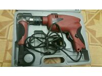 corded hammer drill with carry case