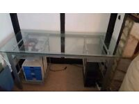 Desk with glass top