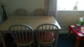 4Seater Dining Table & Chairs