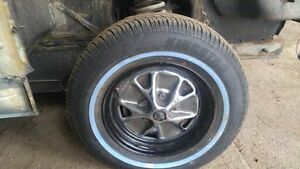 Vintage Mustang Styled Chrome Steel Wheels