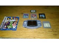 Clear Gameboy Advance with 5 games Non Refundable.