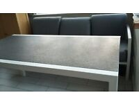 GARDEN/CONSERVATORY CORNER SOFA AND TABLE
