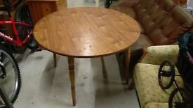 pine round dining table solid