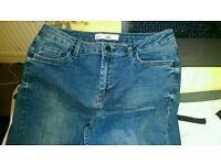 Blue topshop moto Jamie jeans W32 L30