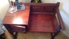 Telephone seat and Cabinet.