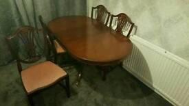 Solid dark wood dining set