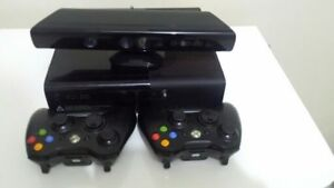 Xbox 360 + Kinect +  2 Controllers + Games. Like New