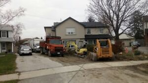 Bobcat  and  dump truck  for hire, with operator
