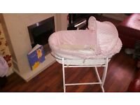 cute rocking moses basket for new born