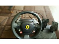 Xbox ,pc ferrari wheel limeted edition thrustmaster
