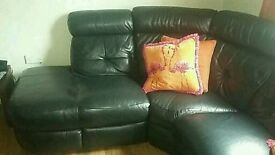 Selling real leather dfs corner seettee