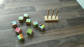 4 in 1 wooden puzzle