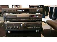 Technics amplifier cd player and tuner