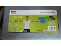 York fit bell dumbell set. 10kgs