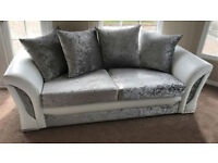 FABRIC/CRUSH VELVET*SHANN0N SOFA* LUXURY SOFA CHEAPEST PRICE a3+2/Corner sofa 928