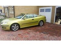 Saab 9-3 convertible auto. Fsh. Clean, enthusiast owned car