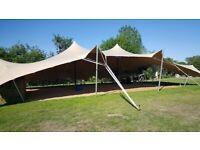 Stretch Tent (second hand) 15m x 13m (colour - Beige)