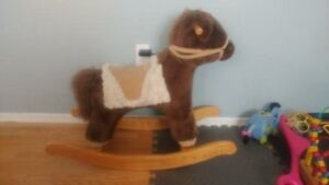 pottery barn rocking horse excellent condition