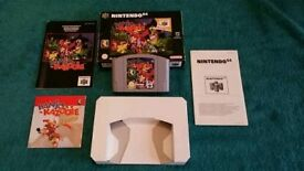 N64 BANJO-KAZOOIE BOXED AND COMPLETE!