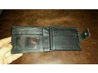 Jasper Conran Black trifold leather wallet