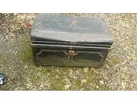 VERY OLD TIN CHEST