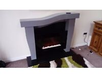 fire surround with remote