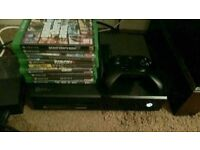 Xbox one with 9 games, 1 controller