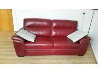 2 Seater Vitainpella Italian Leather Sofa