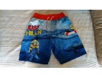Brand New Boxers 11-12 x2,Minions Swimming shorts 10-11