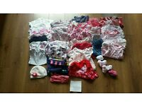 Bundle of girls clothes 3-6 months