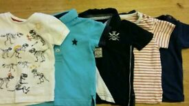 5 Next and Marks & Spencer's boys tops aged 3-6 months