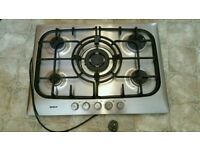 Bosch 5 ring s/steel gas hob with Wok holder