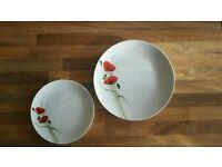Plates - poppy design