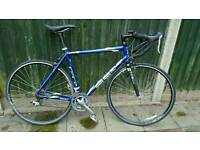 Gt three series road bike size L with carbon forks and shimano gears nice light bike