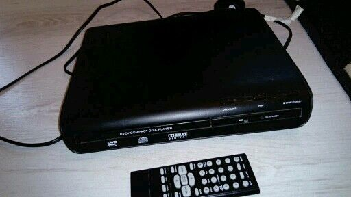 small dvd compact player with remote control
