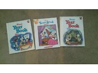 Disney year book x3 lot micky mouse