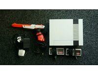 NES with collection of games