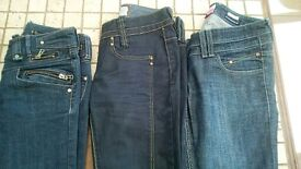 River Island jeans size 8 & 10 x3 pairs