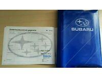**RARE* Subaru impreza classic service book