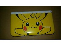 Pikachu 3ds xl with charger and set of new stylus pens