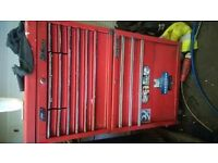 Mac tools top box and tengtools roller cav overall good condition