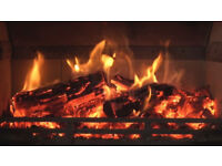 KILN DRIED HARDWOOD FIREWOOD LOGS BULK BAGS wood burner coal fire DELIVERED & STACKED NN113AW