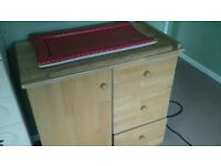 Solid wood changing table
