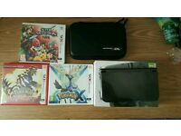 Nintendo 3DS XL + 3 Games, Case & Charger (Like New)