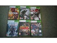 Xbox 360 Games:Watch Dogs, Assassin's Creed Rogue, NFS Run, FIFA Street, UFC, Max Payne 3