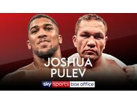 2 Tickets Anthony Joshua VS Kubrat Pulev